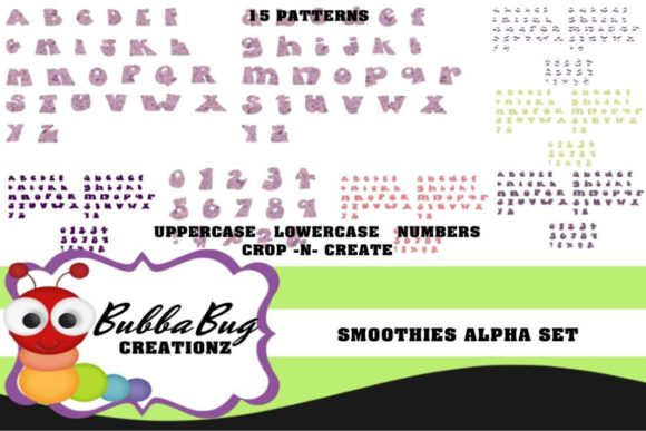 Smoothies Alpha Set Graphic Crafts By BUBBABUG