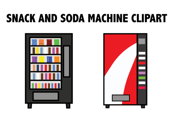 Snack and Soda Machine Clipart Graphic By Mine Eyes Design Image 1