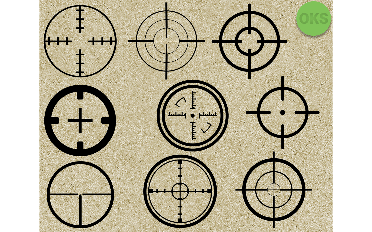 Download Free Sniper Target Vector Clipart Graphic By Crafteroks Creative for Cricut Explore, Silhouette and other cutting machines.