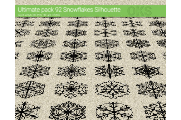 Download Free Snowflakes Vector Graphic By Crafteroks Creative Fabrica SVG Cut Files