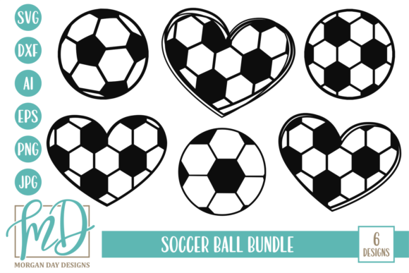 Download Free Soccer Ball Bundle Graphic By Morgan Day Designs Creative Fabrica for Cricut Explore, Silhouette and other cutting machines.