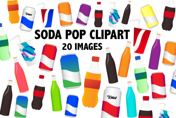 Print on Demand: Soda Pop Clipart Graphic Icons By Mine Eyes Design