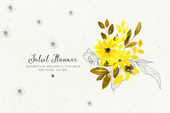Soleil Flowers Graphic Illustrations By webvilla - Image 2