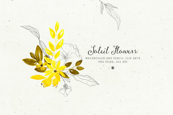 Soleil Flowers Graphic Illustrations By webvilla - Image 4