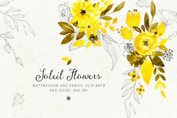 Soleil Flowers Graphic By webvilla