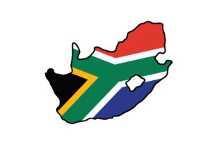 South Africa Country Outline with Flag Craft Design By Creative Fabrica Crafts