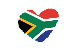 South Africa Heart Shape with Flag Craft Design By Creative Fabrica Crafts