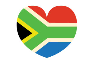 South Africa Heart Shaped  Flag South Africa Craft Cut File By Creative Fabrica Crafts