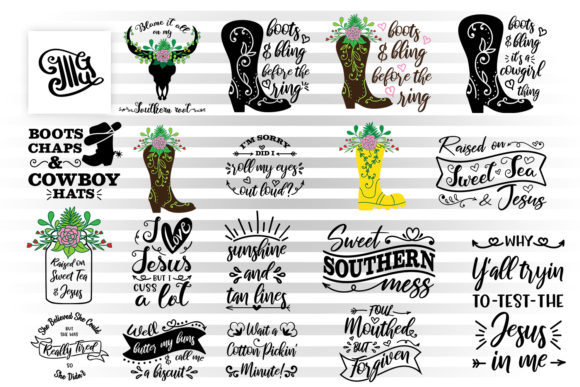 Southern Girl Bundle Graphic Crafts By Illustrator Guru