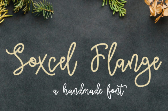 Print on Demand: Soxcel Flange Script & Handwritten Font By Autumn Designs