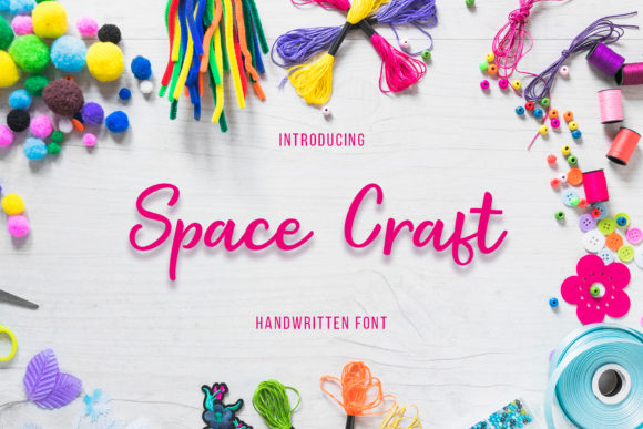 Print on Demand: Space Craft Script & Handwritten Font By Uloel Design