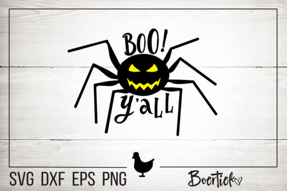 Download Free Spider Boo Y All Halloween File Graphic By Boertiek Creative for Cricut Explore, Silhouette and other cutting machines.