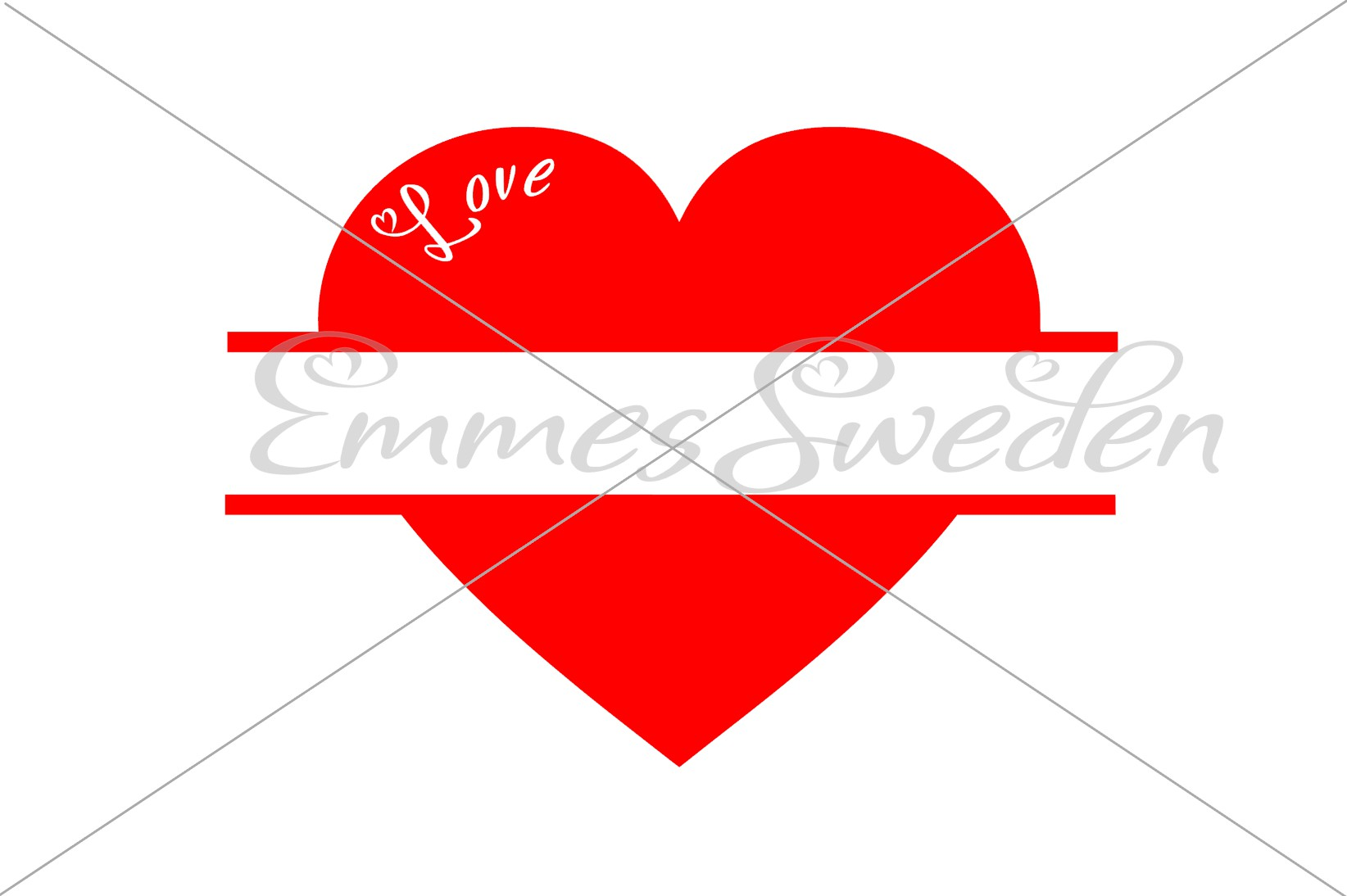 Download Free Split Heart Love Svg File Graphic By Emmessweden Creative for Cricut Explore, Silhouette and other cutting machines.