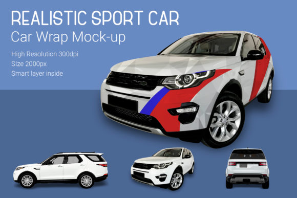 Sport Car Mock-Up Graphic By gumacreative Image 2