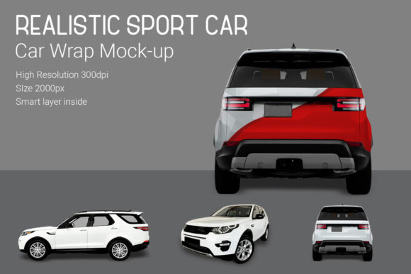 Sport Car Mock-Up Graphic By gumacreative Image 3