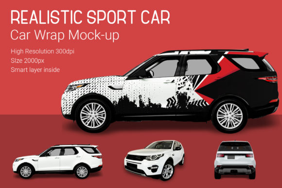 Sport Car Mock-Up Graphic By gumacreative