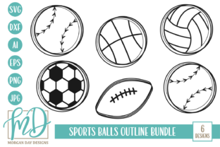 Download Free Sports Balls Outline Svg Bundle Graphic By Morgan Day Designs for Cricut Explore, Silhouette and other cutting machines.