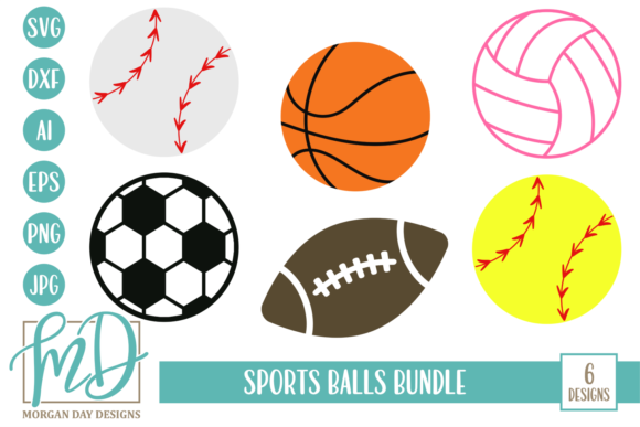 Download Free Sports Balls Bundle Graphic By Morgan Day Designs Creative Fabrica for Cricut Explore, Silhouette and other cutting machines.