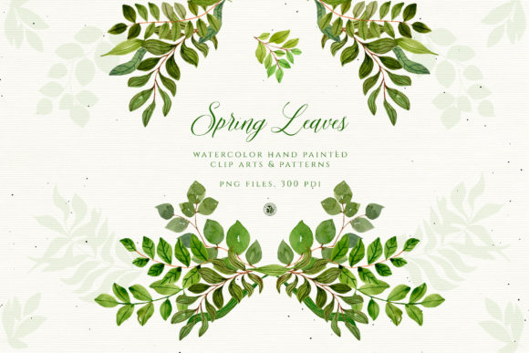 Spring Leaves Graphic Illustrations By webvilla