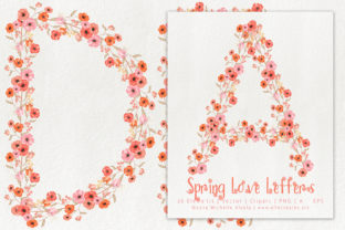Spring Love 01 Peach and Mint Letters Graphic By Michelle Alzola