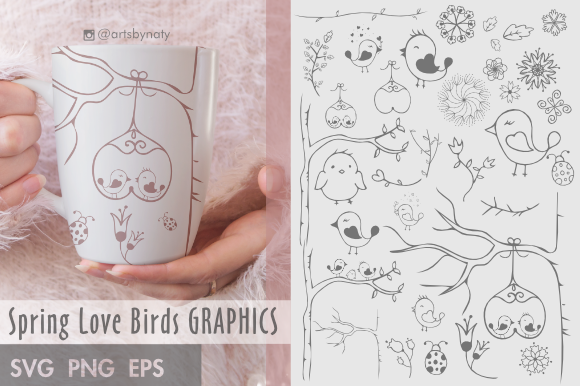Spring Love Birds SVG Pack
