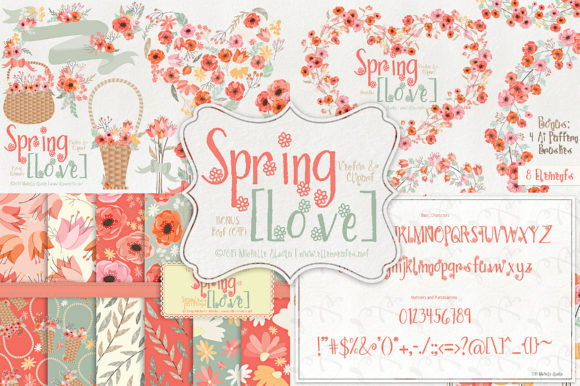 Print on Demand: Spring Love Display Font By Michelle Alzola