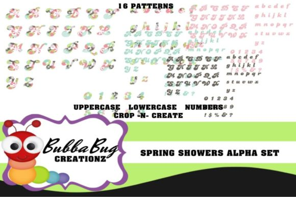Spring Showers Alpha Set Graphic Crafts By BUBBABUG