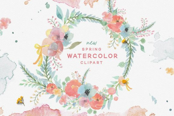 Spring Watercolor Graphic By Creativeqube Design