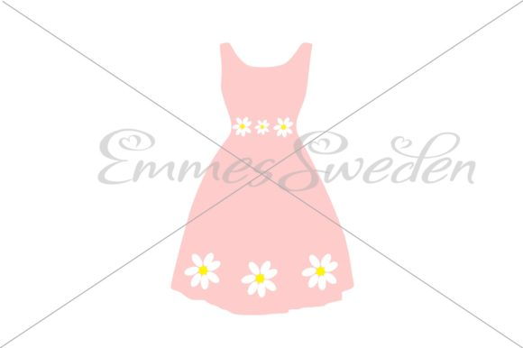 Download Free Spring Dress Flowers Graphic By Emmessweden Creative Fabrica for Cricut Explore, Silhouette and other cutting machines.