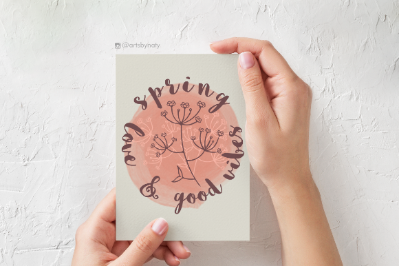 Print on Demand: Spring, Love and Good Vibes Print. Graphic Illustrations By artsbynaty - Image 2