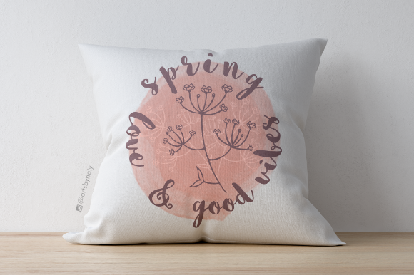 Print on Demand: Spring, Love and Good Vibes Print. Graphic Illustrations By artsbynaty - Image 5