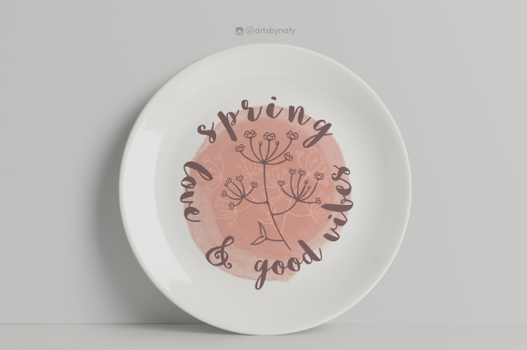 Print on Demand: Spring, Love and Good Vibes Print. Graphic Illustrations By artsbynaty - Image 6