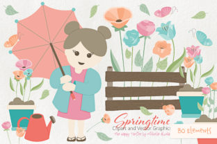 Springtime 01 Flower Clipart and Vectors Graphic By Michelle Alzola