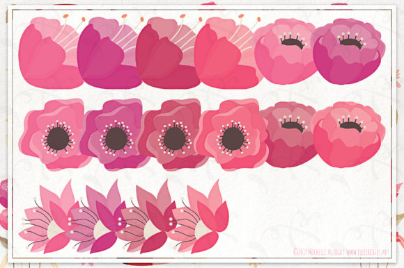 Print on Demand: Springtime 03 Red & Pink Vector Clipart Graphic Illustrations By Michelle Alzola - Image 4