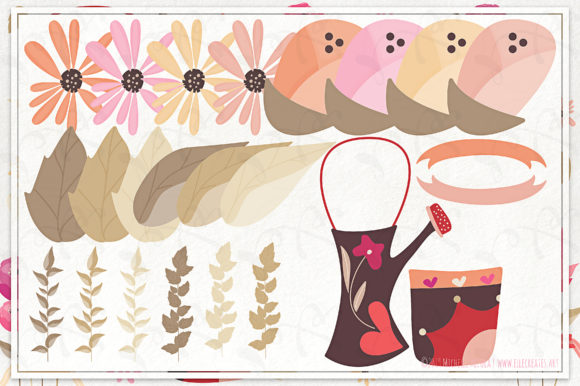 Print on Demand: Springtime 03 Red & Pink Vector Clipart Graphic Illustrations By Michelle Alzola - Image 5