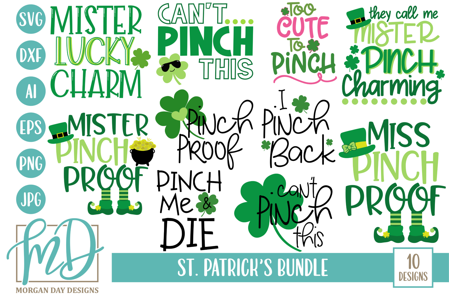 Download Free St Patrick S Bundle Graphic By Morgan Day Designs Creative Fabrica for Cricut Explore, Silhouette and other cutting machines.