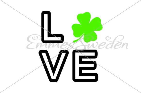 Download Free St Patrick S Day Love Svg Lucky Clover Graphic By Emmessweden for Cricut Explore, Silhouette and other cutting machines.