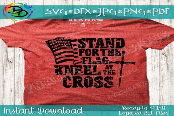 Military T Shirts I Stand for the Flag I Kneel for the Cross Football Tshirts