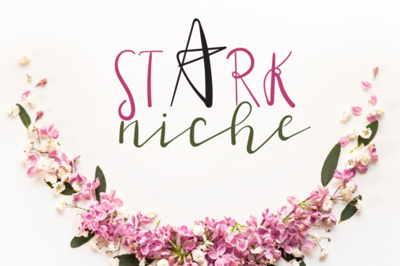 Print on Demand: Stark Niche Script & Handwritten Font By Autumn Designs