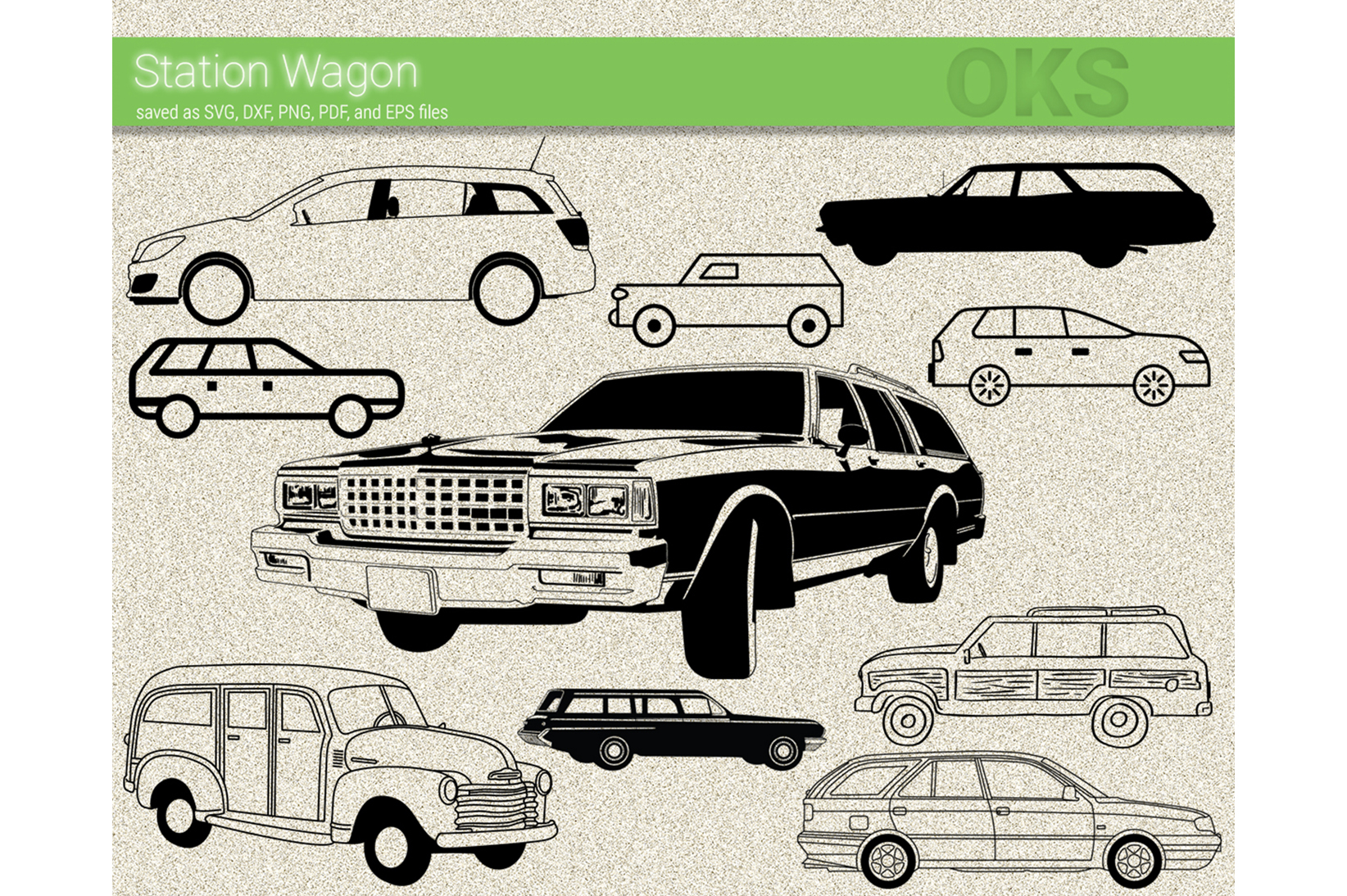 Download Free Station Wagon Vector Graphic By Crafteroks Creative Fabrica for Cricut Explore, Silhouette and other cutting machines.