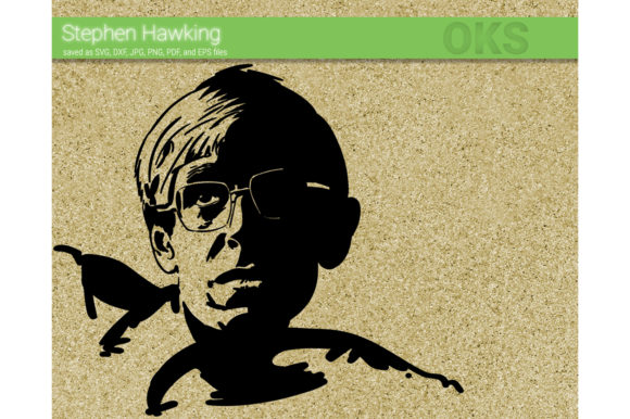 Download Free Stephen Hawking Svg Vector Graphic By Crafteroks Creative Fabrica for Cricut Explore, Silhouette and other cutting machines.