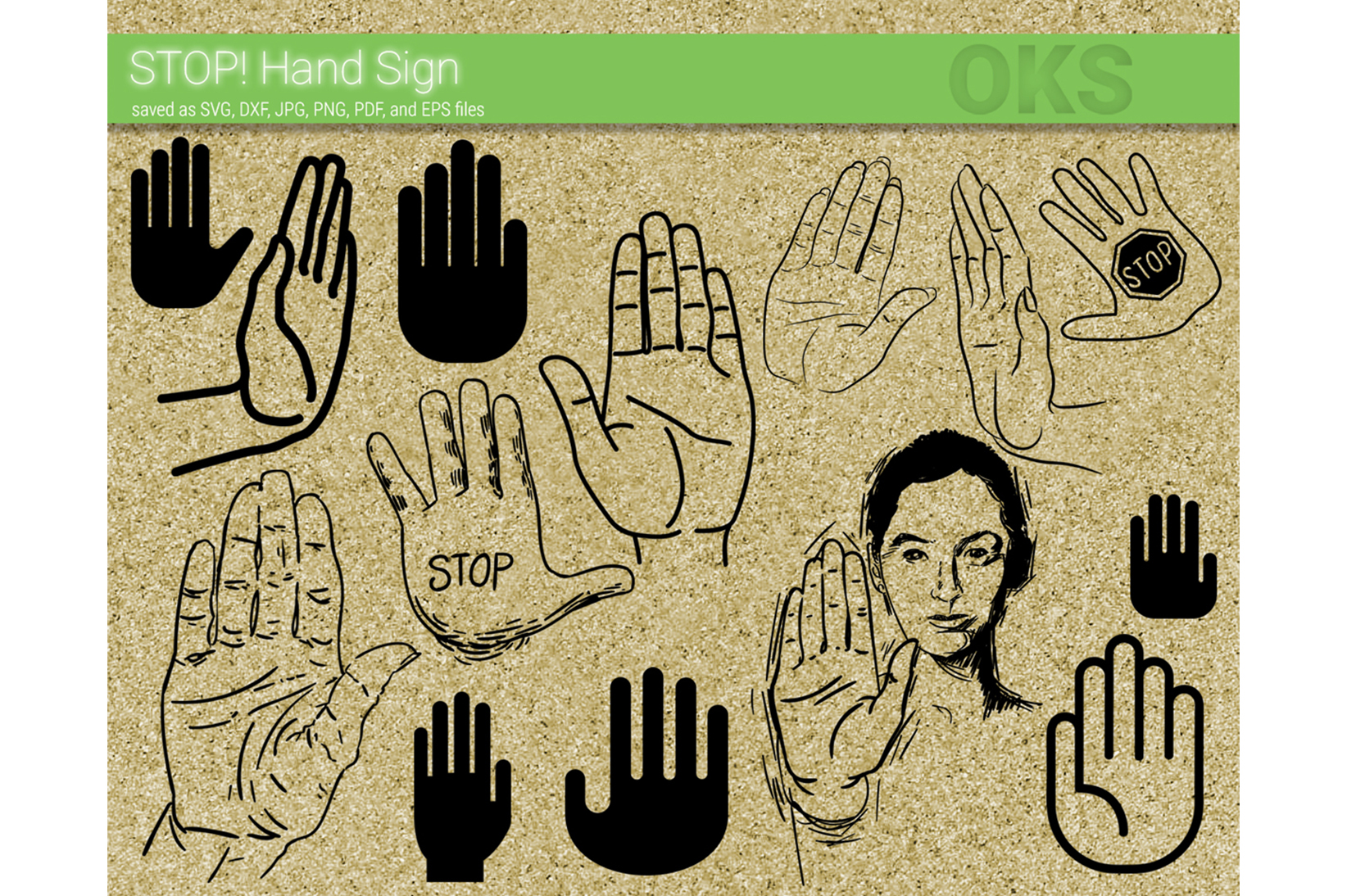 Download Free Stop Hand Sign Svg Vector Graphic By Crafteroks Creative Fabrica SVG Cut Files