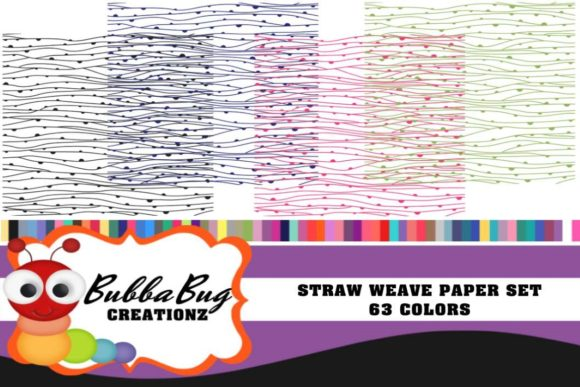 Straw Weave Paper Set Graphic Backgrounds By BUBBABUG - Image 1