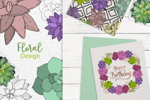 Print on Demand: Succulents Vector Set Graphic Illustrations By MyStocks - Image 5