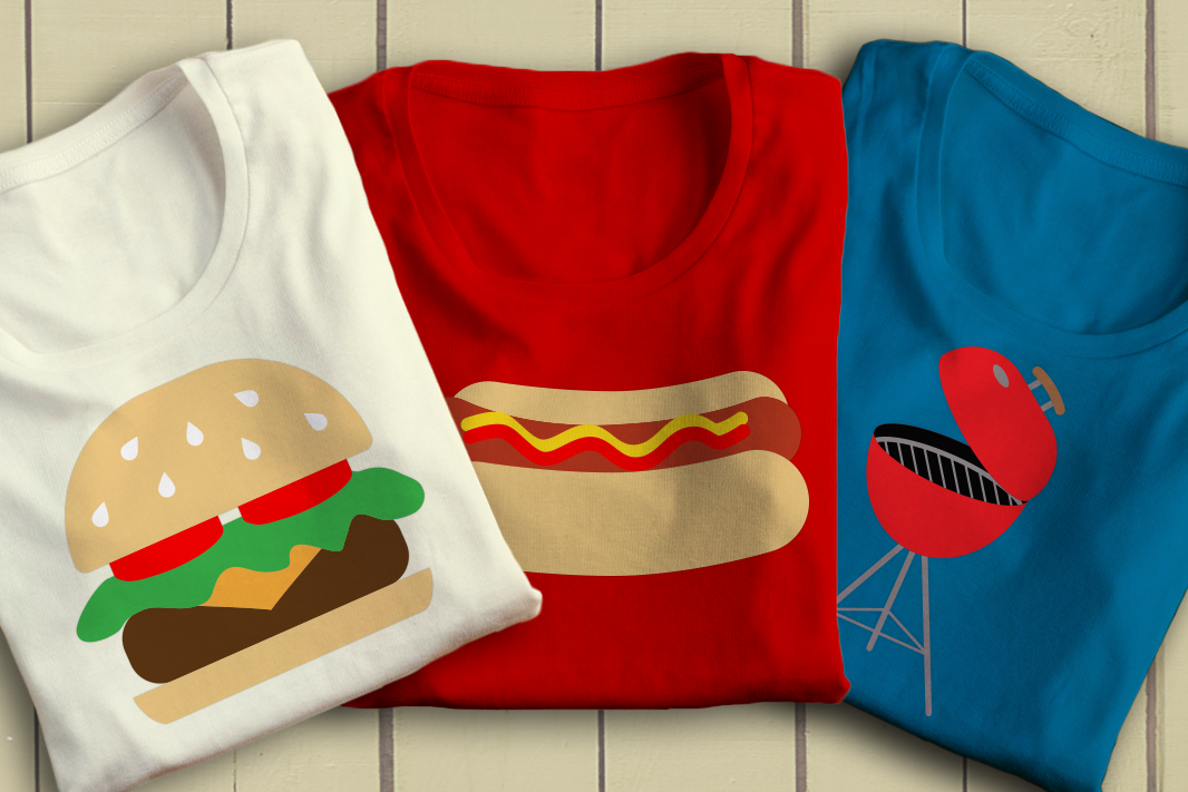 Download Free Summer Bbq Trio Graphic By Designedbygeeks Creative Fabrica for Cricut Explore, Silhouette and other cutting machines.
