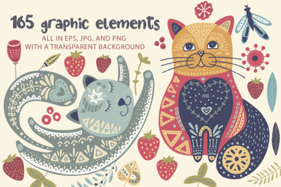 Print on Demand: Summer Cat Display Font By Red Ink - Image 2