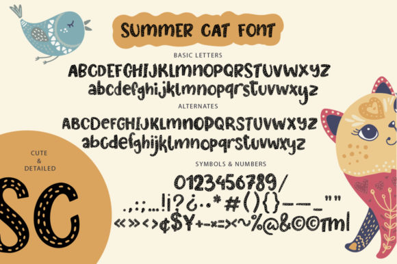 Print on Demand: Summer Cat Display Font By Red Ink - Image 5