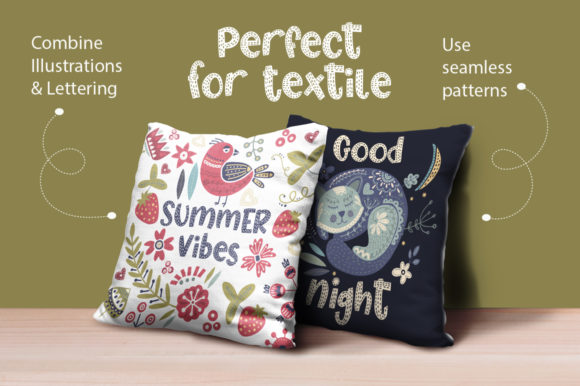 Print on Demand: Summer Cat Display Font By Red Ink - Image 10