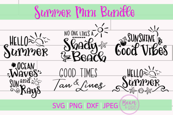 Print on Demand: Summer Mini Bundle Summer Cut File Graphic Crafts By Jessica Maike