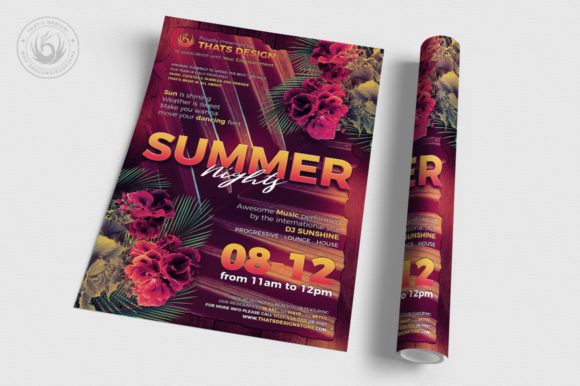 Summer Nights Flyer Template Graphic By ThatsDesignStore Image 3